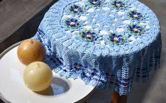 Toalha de Mesa Blue Em Crochê – Material e Receita