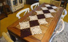 Trilho De Mesa Quadrados Em Crochê – Material e Receita