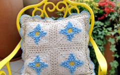 Almofada Rosa Dos Ventos Em Crochê – Material e Receita