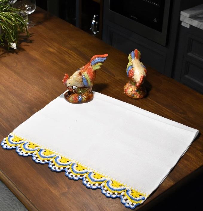 Barrado Azulejo Em Crochê – Material e Receita