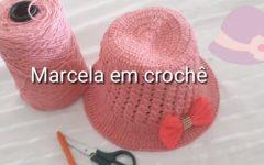 Chapéu de Praia Infantil Em Crochê – Material e Vídeo
