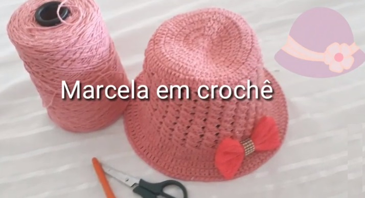 Chapéu de Praia Infantil Em Crochê