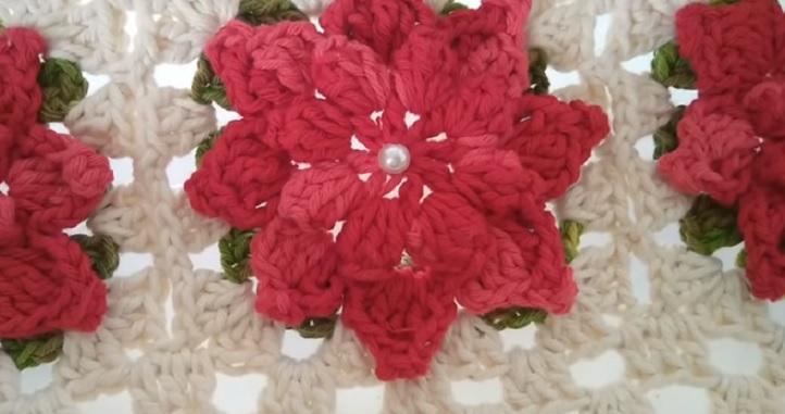 Flor Aveline Em Crochê – Material e Vídeo