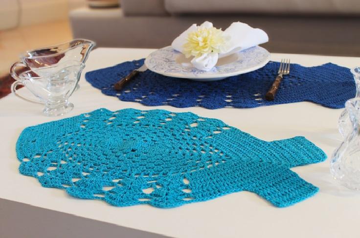 Sousplat Peixe Em Crochê - Material e Receita
