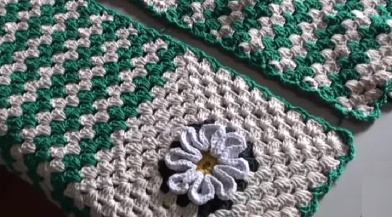 Tapete Beira de Cama Em Crochê – Material e Vídeo