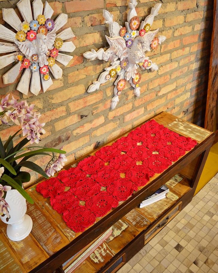 Trilho Cereja Em Crochê – Material e Receita
