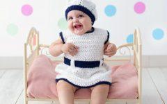 Vestido E Boina Em Crochê – Material e Receita