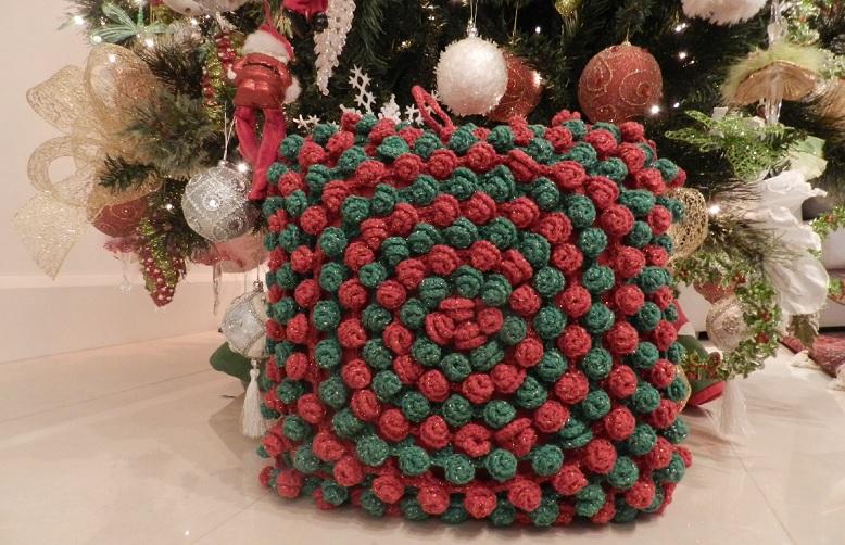 Almofada Linda de Natal Em Crochê – Material e Receita