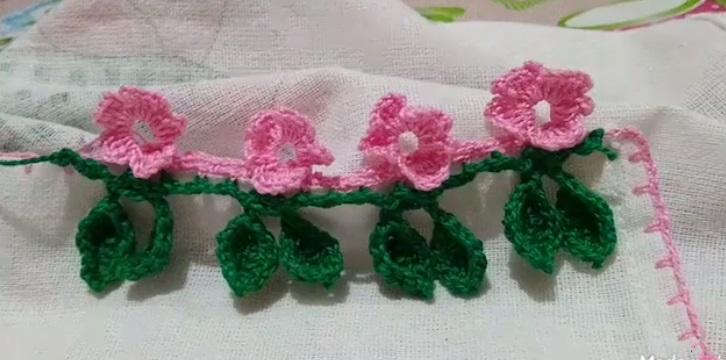 Barrado Flor de Cerejeira Em Crochê- Material e Vídeo