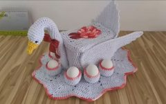Cisne Porta Ovos Em Crochê – Material e Vídeo