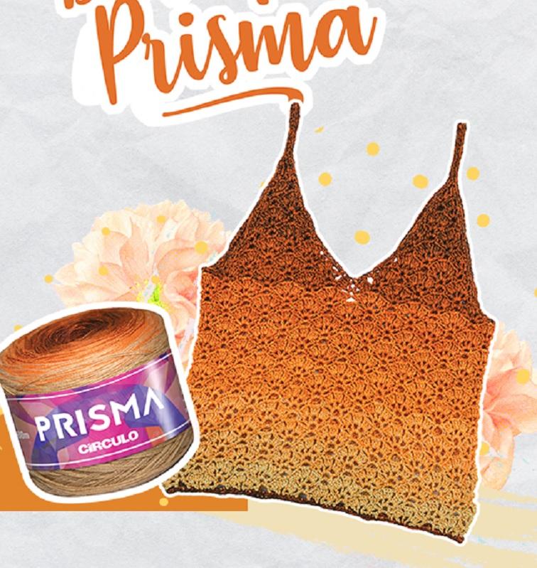 Regata Prisma Em Crochê – Material e Receita