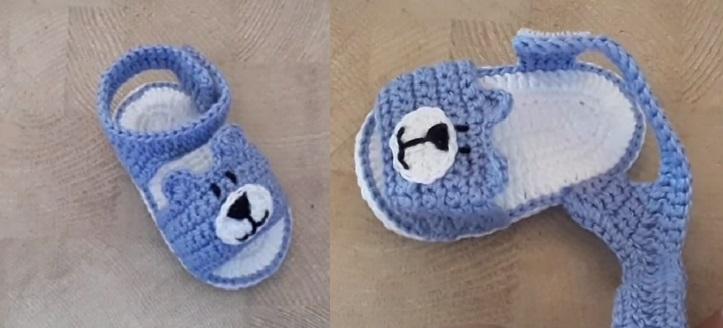 Sandália Urso Baby Em Crochê – Material e Vídeo