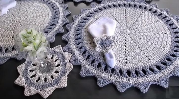 Sousplat Para Réveillon Em Crochê – Material e Vídeo