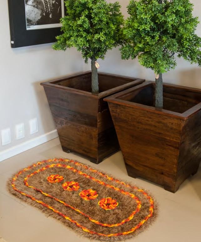 Tapete Hibisco Em Crochê – Material e Receita