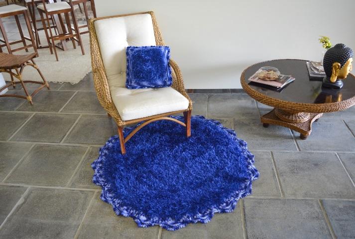 Tapete e Almofada Royal Em Crochê – Material e Receita