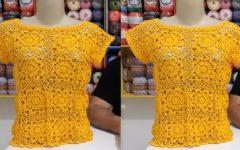Blusa Rainha Em Crochê – Material e Vídeo