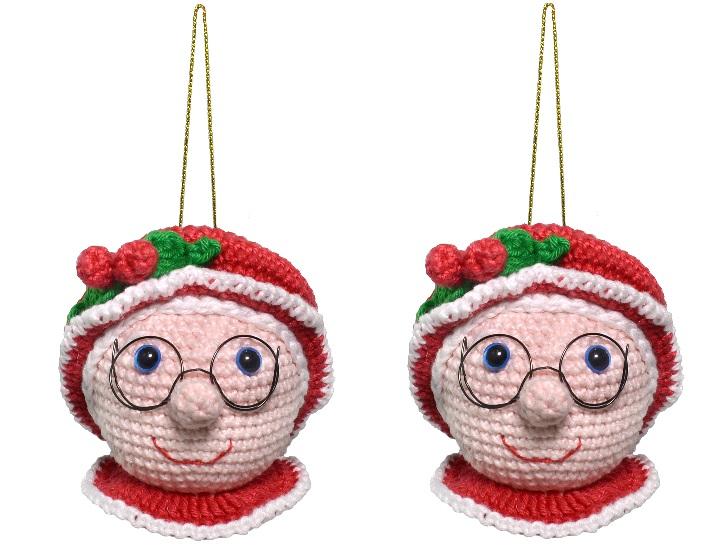 Bola de Mamãe Noel Em Crochê – Material e Receita