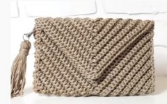 Bolsa Envelope Em Crochê – Material e Vídeo