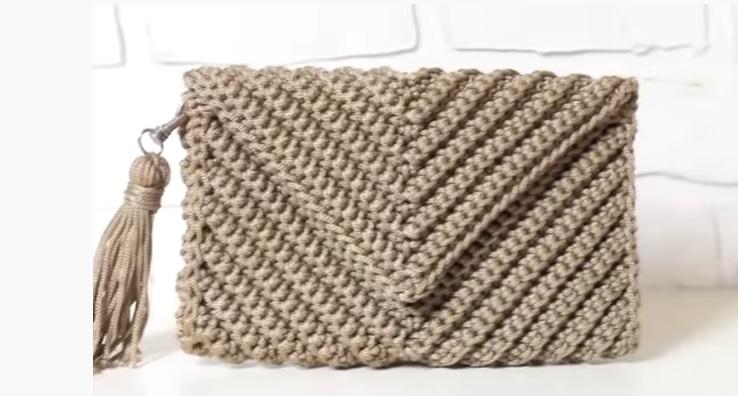 Bolsa Carteira Envelope Em Crochê - Material e Vídeo
