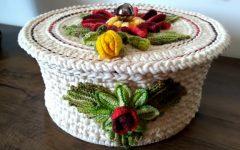 Caixa Para Presente Em Crochê– Material e Receita