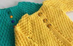 Casaquinho ABC Para Bebê Em Crochê– Material e Vídeo