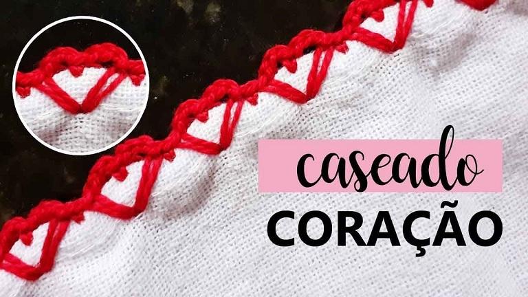 Caseado Coração Em Crochê – Material e Vídeo