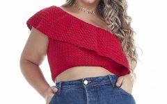 Cropped Um Ombro Em Crochê – Material e Receita