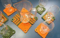 Porta Jarras e Porta Copos Em Crochê– Material e Receita
