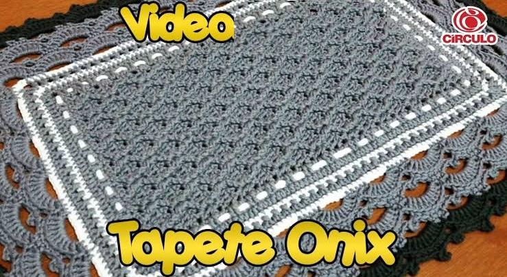 Tapete Onix Em Crochê – Material e Vídeo