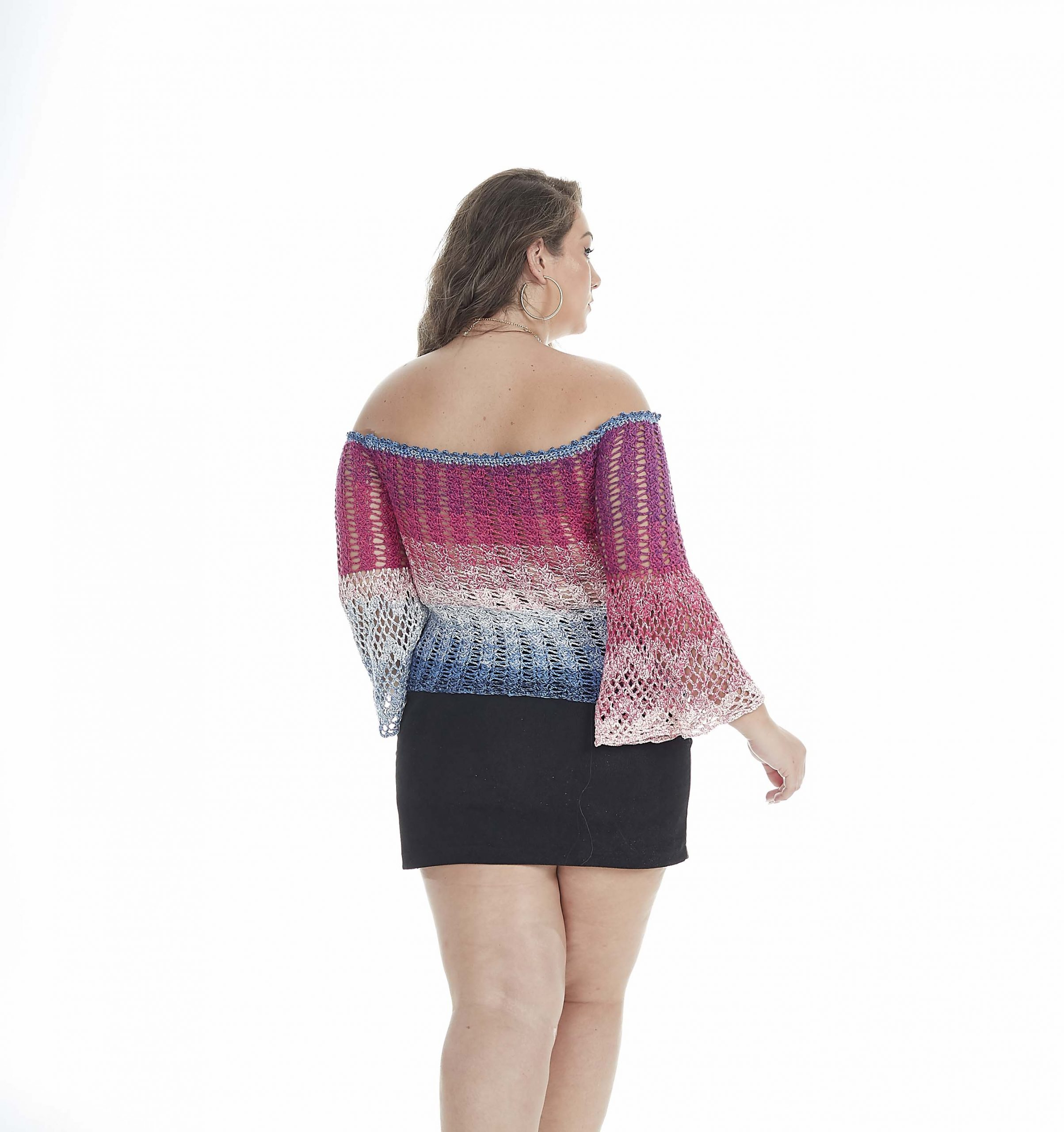 Blusa Ciganinha Flare Crochê – Material e Passo a Passo