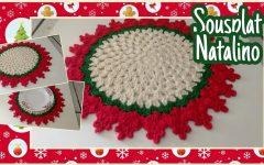 Sousplat Crochê Natal – Material e Vídeo