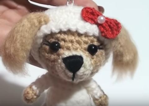 chaveiro Cachorro Amigurumi