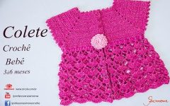 Colete Bebe Crochê – Material e Vídeo