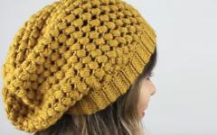 Gorro Fofo Em Crochê – Material e Vídeo