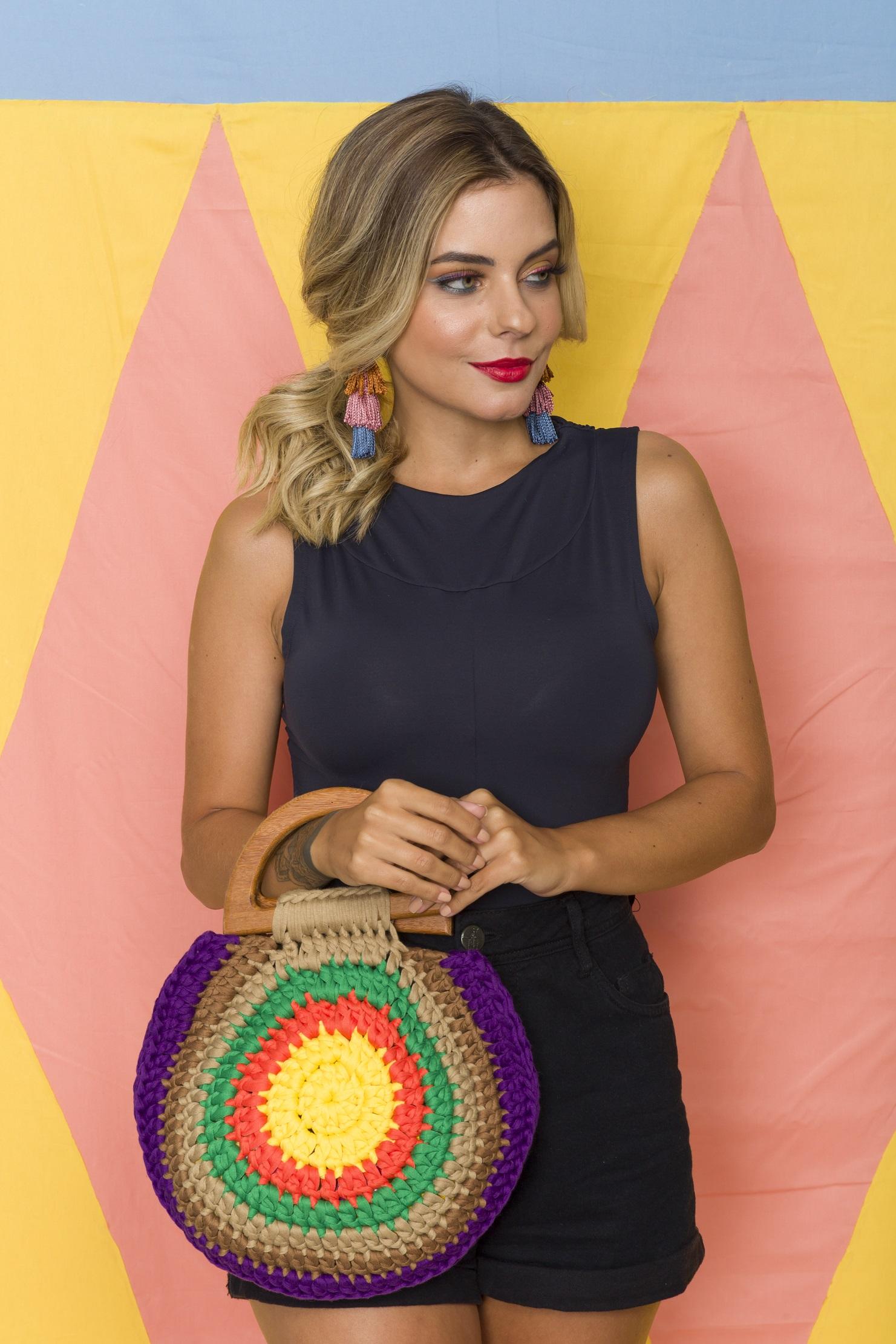 Bolsa Crochê Tropical – Material, Gráfico e Receita.