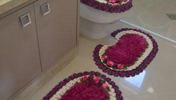 Jogo de Banheiro Oval Crochê – Material, Gráfico e Receita