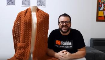 Cachecol De Bolso Em Crochê – Material e Vídeo