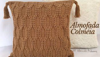 Almofada Colmeia Crochê – Material e Vídeo