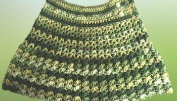 Saia De Lã Infantil Crochê – Material e Vídeo
