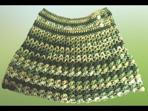 Saia De Lã Infantil Crochê