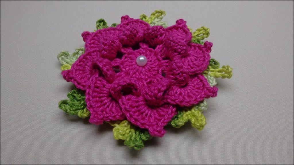 Flor Aplicação De Crochê