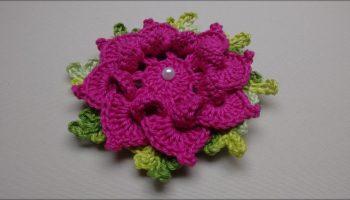 Flor Aplicação De Crochê – Material e Vídeo