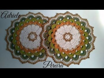 Sousplat Russo Luxo Crochê – Material e Vídeo