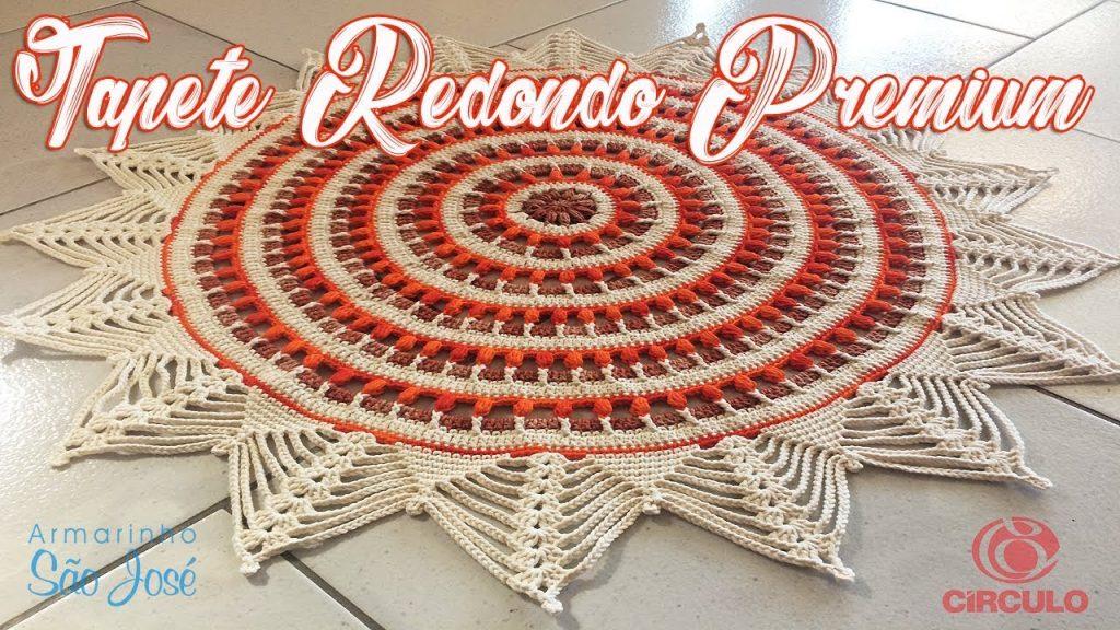 Tapete Redondo Crochê Premium