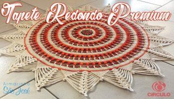 Tapete Redondo Crochê Premium – Material e Vídeo