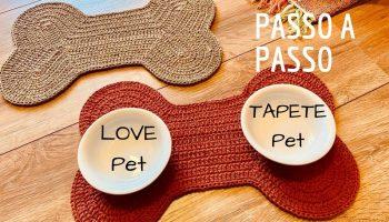 Jogo Americano Pet Crochê – Material e Vídeo