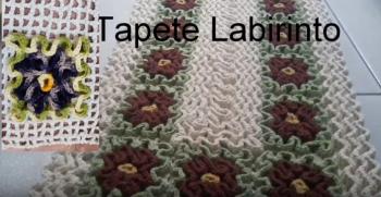 Tapete Labirinto Crochê – Material e Vídeo