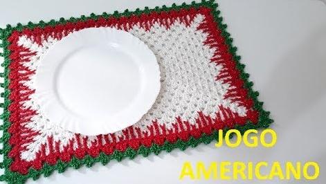 Jogo Americano Natal Crochê