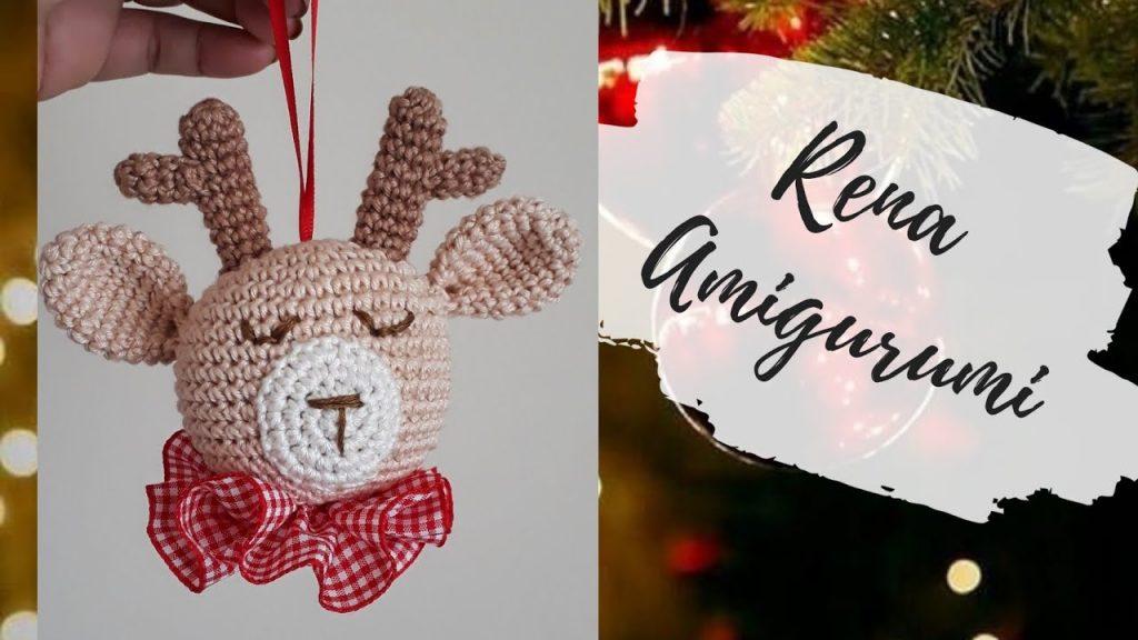 Rena Amigurumi Enfeite Natal