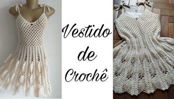 Vestido Crochê Ponto Abacaxi – Material e Vídeo